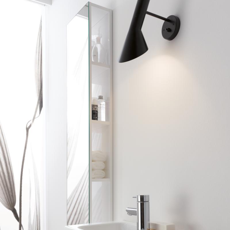 keramag icon xs regal mit spiegel alpin hochglanz 840028000 reuter. Black Bedroom Furniture Sets. Home Design Ideas