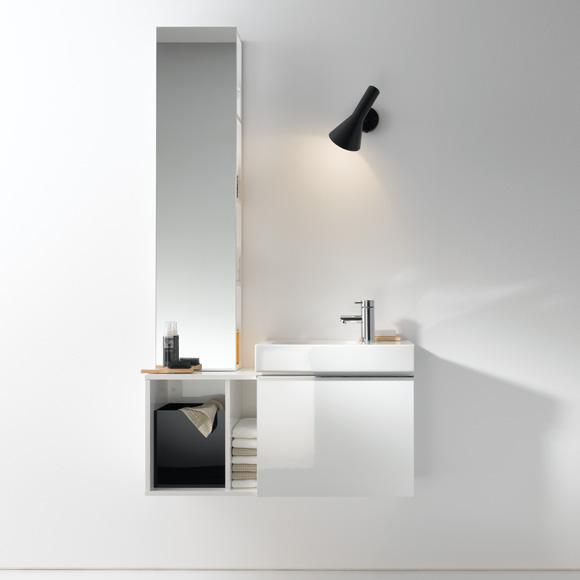keramag icon xs handwaschbecken unterschrank mit 1 auszug front und korpus alpin hochglanz. Black Bedroom Furniture Sets. Home Design Ideas