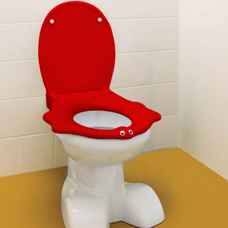 keramag kind wc sitz im tierdesign mit deckel rot ohne. Black Bedroom Furniture Sets. Home Design Ideas