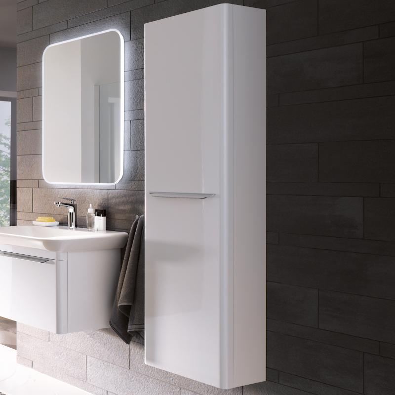 keramag myday hochschrank mit magnethalter front und korpus wei hochglanz y824000000 reuter. Black Bedroom Furniture Sets. Home Design Ideas