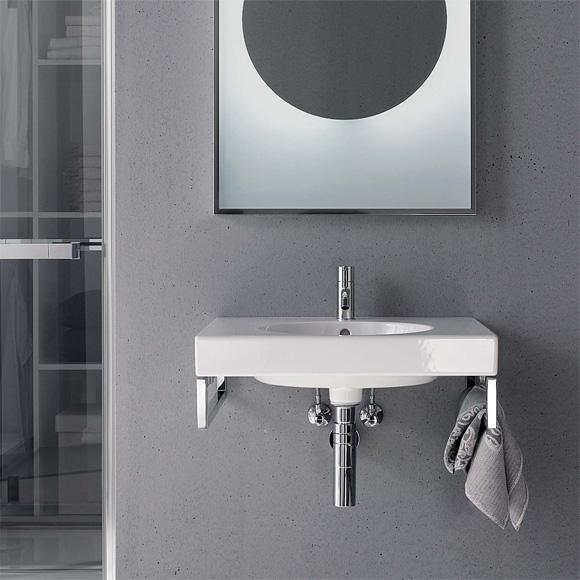 keramag preciosa ii waschtisch wei mit keratect mit 1 hahnloch mit berlauf 123260600 reuter. Black Bedroom Furniture Sets. Home Design Ideas