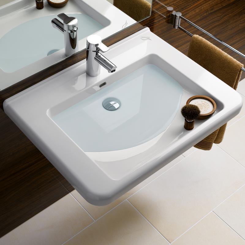 keramag renova nr 1 comfort waschtisch wei 128555000 reuter. Black Bedroom Furniture Sets. Home Design Ideas