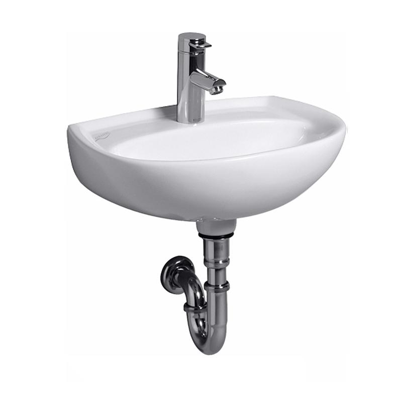 keramag renova nr 1 handwaschbecken wei mit keratect mit 1 hahnloch ohne berlauf. Black Bedroom Furniture Sets. Home Design Ideas