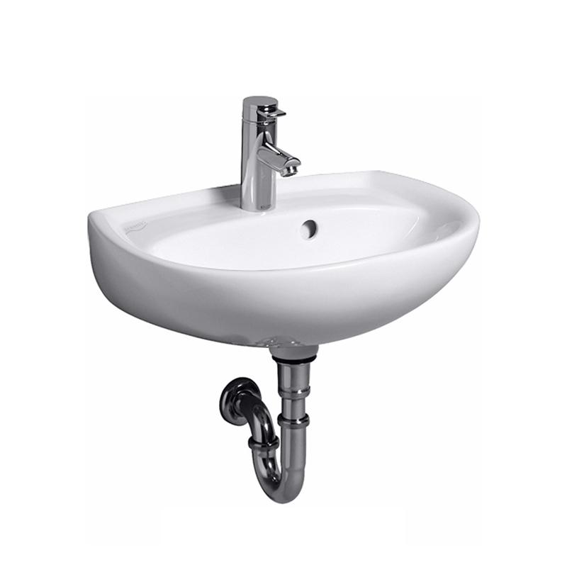 keramag renova nr 1 handwaschbecken wei mit keratect ohne hahnloch mit berlauf 273053600. Black Bedroom Furniture Sets. Home Design Ideas