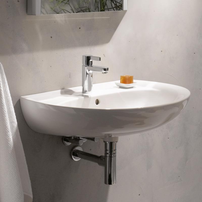 keramag renova nr 1 waschtisch wei mit 1 hahnloch mit berlauf 223060000 reuter. Black Bedroom Furniture Sets. Home Design Ideas
