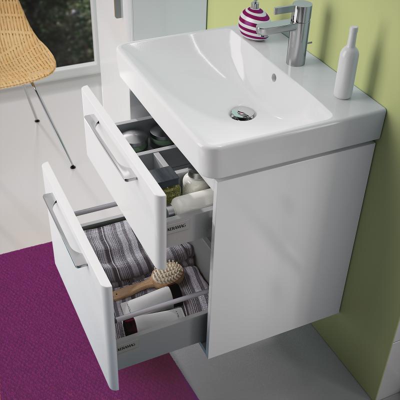 Keramag Smyle Waschtischunterschrank Mit 2 Auszugen Front Und Korpus