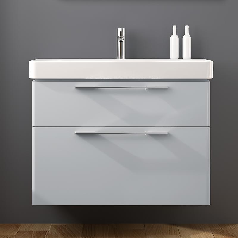 keramag smyle waschtischunterschrank mit 2 ausz gen front und korpus lichtgrau 805091000 reuter. Black Bedroom Furniture Sets. Home Design Ideas