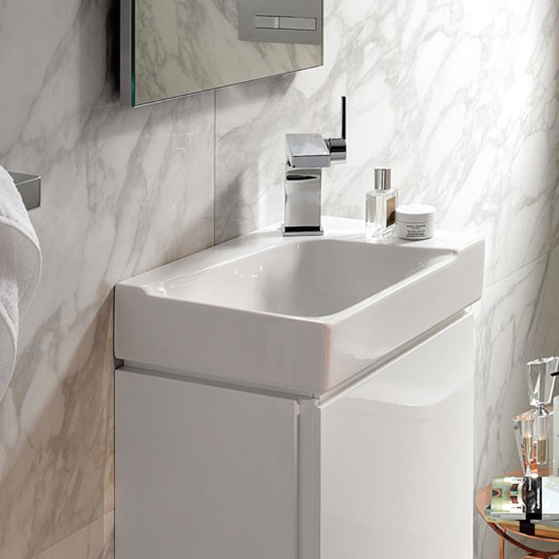 keramag xeno handwaschbecken wei mit keratect 127045600 reuter. Black Bedroom Furniture Sets. Home Design Ideas