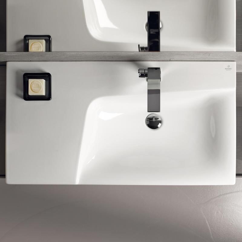 keramag xeno waschtisch mit ablagefl che wei mit 1 hahnloch 127290000 reuter. Black Bedroom Furniture Sets. Home Design Ideas