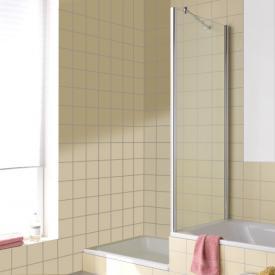 Kermi Atea Seitenwand verkürzt auf Badewanne ESG transparent / silber hochglanz