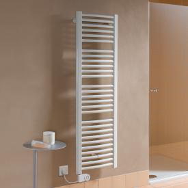 Kermi Basic R-E Badheizkörper für rein elektrischen Betrieb mit gebogenen Rohren weiß, 1200 Watt, Elektro-Set FKS links