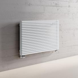 Kermi Decor-Arte Pure Badheizkörper horizontal für Warmwasserbetrieb weiß, 221 Watt, unten seitlich