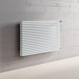 Kermi Decor-Arte Pure Badheizkörper horizontal für Warmwasserbetrieb weiß, 673 Watt, seitlich rechts