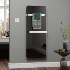 Kermi Elveo Infrarotheizung schwarz/aluminium, 400 Watt, mit Elektro-Set WFS