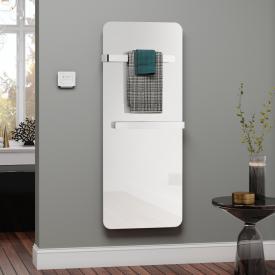 Kermi Elveo Infrarotheizungs-Set mit Handtuchhalter weiß/aluminium, 400 Watt, Elektro-Set WRX