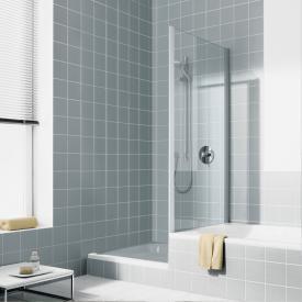 Kermi Ibiza 2000 Seitenwand verkürzt auf Badewanne ESG transparent / silber mattglanz