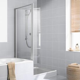 Kermi Ibiza 2000 Seitenwand verkürzt, beweglich auf Badewanne ESG klar mit KermiClean / silber mattglanz