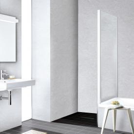 Kermi Liga Seitenwand verkürzt auf Badewanne ESG klar / silber hochglanz