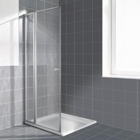 Kermi Nova 2000 Schwingtür mit Festfeld Kunstglas kerolan fontana / silber mattglanz