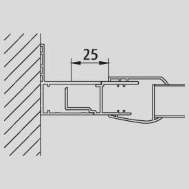 Kermi Stockverbreiterung für Gleittür 4-teilig bodenfrei mit Festfeldern
