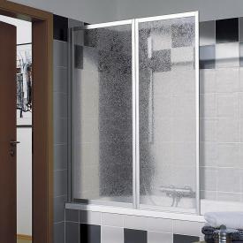 Kermi Vario 2000 Faltwand 2-flügelig Kunstglas kerolan Perl / silber mattglanz