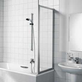 Kermi Vario 2000 Seitenwand für Badewannenabtrennung ESG klar / silber mattglanz
