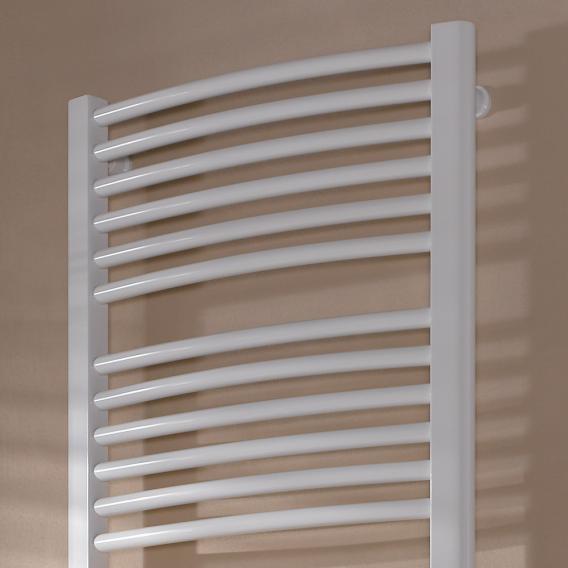 Kermi Basic R-E Heizkörper für rein elektrischen Betrieb, mit gebogenen Rohren weiß, 1200 Watt, Elektro-Set WKS R