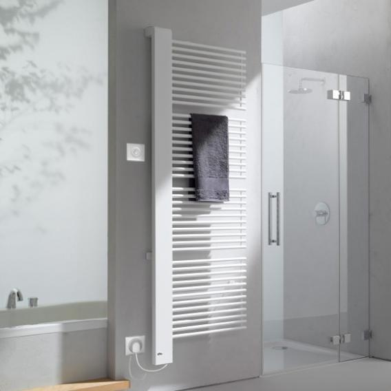 Kermi Credo-Half-E Heizkörper für rein elektrischen Betrieb weiß, B: 46 H: 102,9 cm, 400 Watt, Elektro-Set WKS links