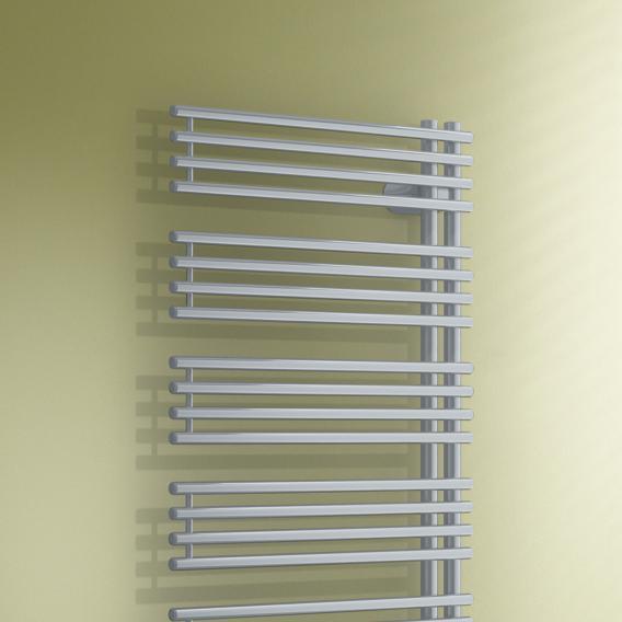 Kermi Diveo-E Heizkörper für rein elektrischen Betrieb glanzsilber metallic, Elektro-Set WFS R