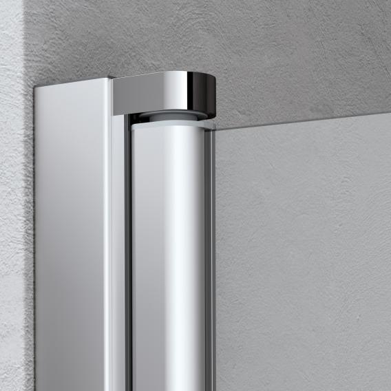 Kermi Liga Pendeltür 1-flügelig ESG klar / silber mattglanz
