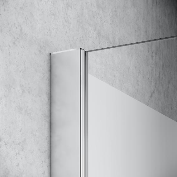 Kermi Liga Walk In Wall ESG klar / silber mattglanz