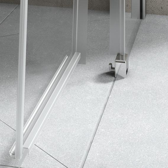 Kermi Nica Walk In Wall Gleittür ESG klar mit KermiClean / silber hochglanz