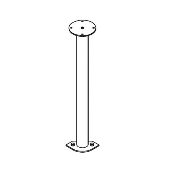 Kermi Nova 2000 Decken-/Fußstütze auf Eckeinstieg H: 74-100 cm