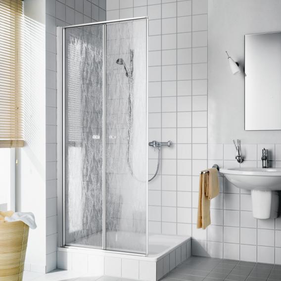 Kermi Nova 2000 Pendeltür Kunstglas kerolan fontana / silber mattglanz