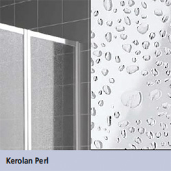 Kermi Vario 2000 Faltwand über Badewanne 3-flügelig Kunstglas kerolan Perl / silber mattglanz