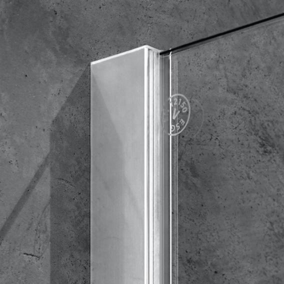 Kermi Walk In XB Wall ESG klar / silber hochglanz