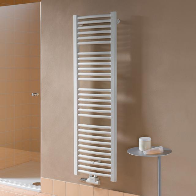 Kermi Basic-50 R Badheizkörper für Warmwasser- oder Mischbetrieb mit gebogenen Rohren weiß, 993 Watt