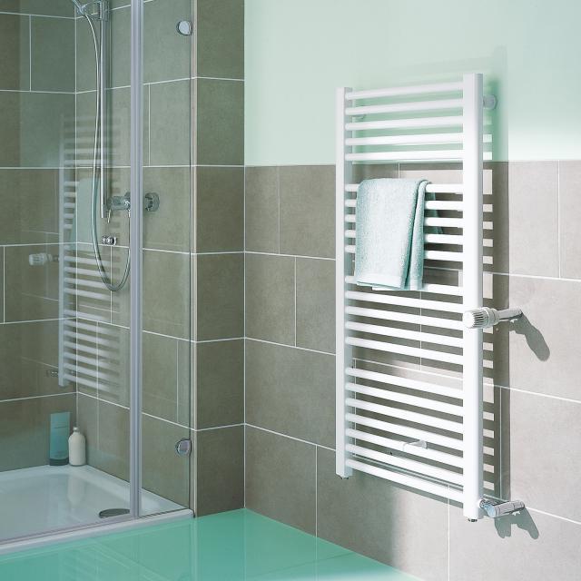 Kermi Basic-D Badheizkörper für Warmwasser- oder Mischbetrieb weiß, 662 Watt, Anschluss rechts