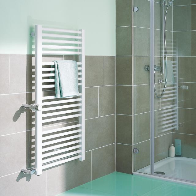 Kermi Basic-D Badheizkörper für Warmwasser- oder Mischbetrieb weiß, 1433 Watt
