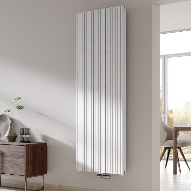 Kermi Decor-Arte Pure Badheizkörper vertikal für Warmwasserbetrieb weiß struktur, 3240 Watt