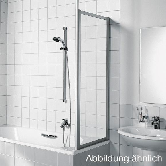 Kermi Vario 2000 Seitenwand für Badewannenabtrennung Kunstglas kerolan Perl / silber mattglanz