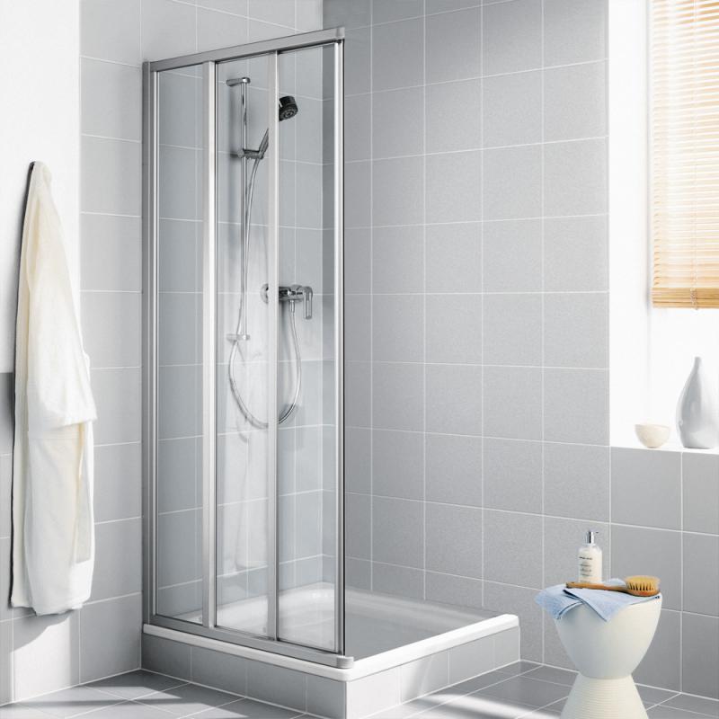 Duschabtrennung schiebetür 3 teilig  Schiebetür-Duschkabinen kaufen | Dusche bei REUTER