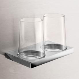 Keuco Edition 11 Doppelglashalter für Wandmontage Echtkristall/chrom