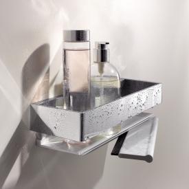 Keuco Edition 11 Duschkorb mit Duschabzieher silber eloxiert/chrom