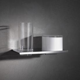 Keuco Edition 400 Doppelhalter Glas und Lotionspender, Wandmontage