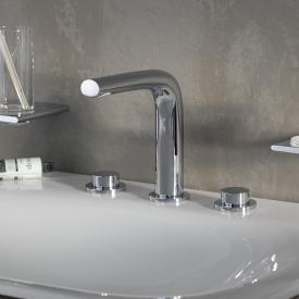 Keuco Edition 400 Dreiloch-Waschtischmischer 150 ohne Ablaufgarnitur, chrom