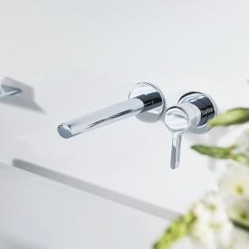 Keuco Edition 400 Einhebel-Waschtischmischer für Wandmontage Ausladung: 243 mm