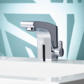 Keuco Elegance IR-Sensor Waschtischarmatur 120, Batteriebetrieb mit Ablaufgarnitur