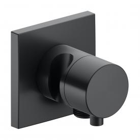 Keuco IXMO 3-Wege Ab- / Umstellventil mit Schlauchanschluss und Brausehalter, Unterputz schwarz chrom gebürstet