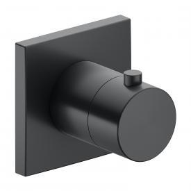 Keuco IXMO Thermostatarmatur, eckig schwarz chrom gebürstet